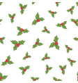 seamless holly berries vector image