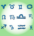 set of symbols denoting the signs of the zodiac vector image
