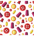 sewing buttons and threads tailor or atelier vector image