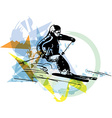 Skiing sketch vector image