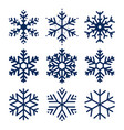 snowflakes icons set of texture vector image