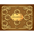Steampunk style frame vector image vector image
