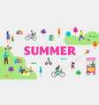 summer outdoor scene vector image vector image
