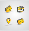 three dimensional commercial icon set vector image