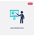 two color man presentation icon from business vector image vector image