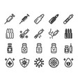 vaccine icon set vector image vector image