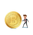 virtual business digital crypto mining bitcoins vector image vector image