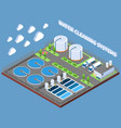 water cleaning systems isometric composition vector image vector image