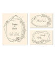 wedding invitation rsvp save date card design vector image vector image