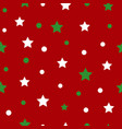 white green red star seamless pattern vector image