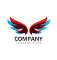 wings company logo template design vector image