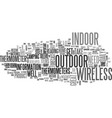 wireless indoor outdoor thermometers text word vector image vector image