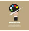 Artist Color Palette vector image