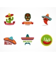 Mexican food icons menu elements for restaurant vector image
