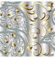3d jewellery ornate diamonds seamless pattern vector image vector image
