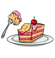 A plate with a cake vector image vector image