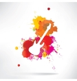 Abstract background notes and splatter vector image vector image