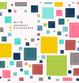 abstract of simple colorful square geometric vector image vector image