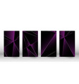 abstract polygonal pattern luxury dark cover vector image