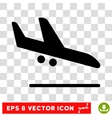 Aiplane Landing Eps Icon vector image vector image