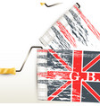 background with british flag imprint vector image