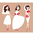 beautiful brides vector image