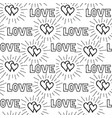black love hearts and handwritten lettering love vector image vector image