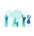 business goals - modern flat design style vector image
