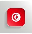 Button - Tunisia Flag Icon vector image vector image