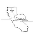 california republic one continuous line emblem vector image vector image