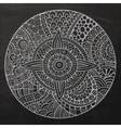 chalkboard circle sketch background vector image vector image