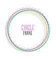 circle frame background in colorful line style vector image vector image