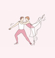 classic ballet dancers and art concept vector image vector image