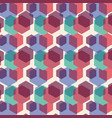 color hexagon geometric pattern background vector image