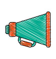 colorful crayon silhouette of megaphone symbol vector image vector image