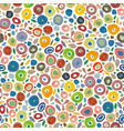 cream pattern with colorful dots vector image vector image