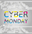 cyber monday poster with glitch effect text vector image vector image