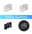dominoes icon vector image