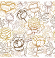 floral pattern peonies textile design pictures vector image vector image
