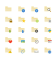 Folder Flat Icons color vector image vector image