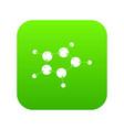 furan icon green vector image vector image
