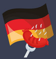 germany flag with sausage vector image vector image