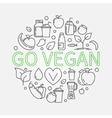 Go Vegan vector image vector image