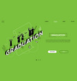 graduation - line design style isometric web vector image