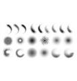 halftone gradient spray dots and circles half vector image