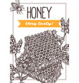 honey hand drawn poster template vector image