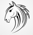 Horse Head Tribal vector image vector image