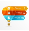 hotair ballon infographics options banner vector image vector image