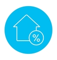 House with discount tag line icon vector image