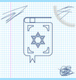 jewish torah book line sketch icon isolated on vector image